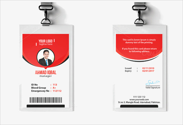 Employee Id Card Templates Fresh Id Card Template 19 Download In Psd Pdf Word