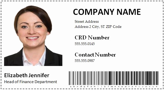 Employee Id Card Templates Luxury Employee Id Card Templates Word format