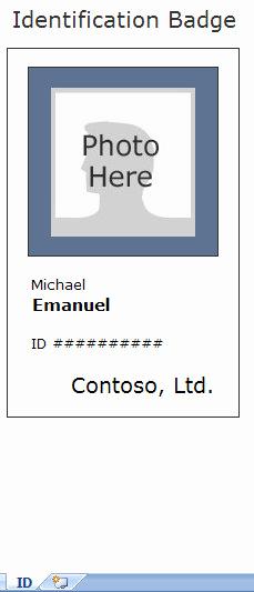 Employee Id Card Templates Luxury Employee Identification Card Template