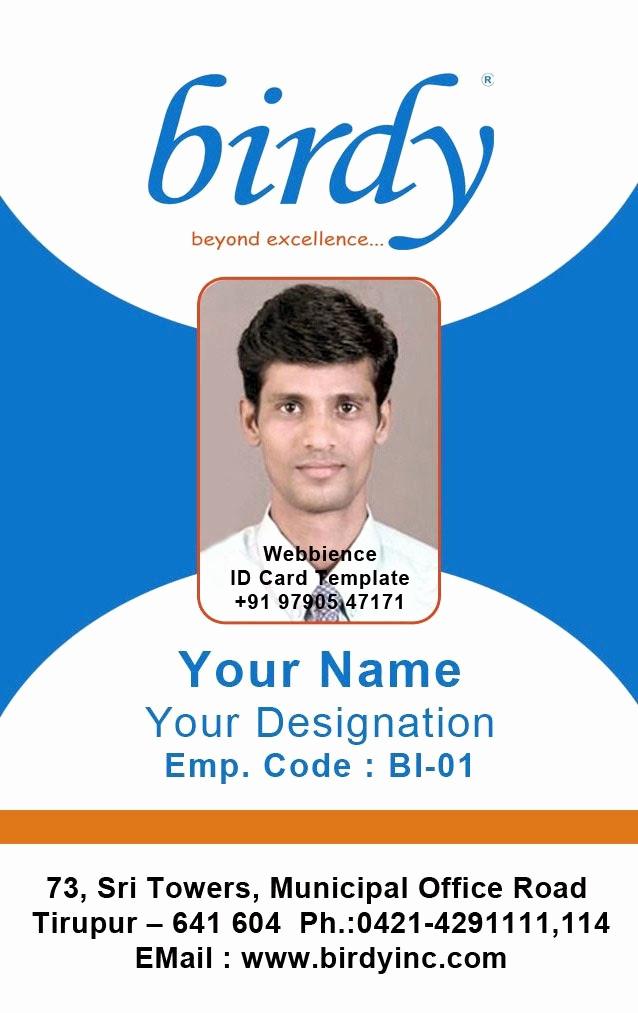 Employee Id Card Templates Luxury Id Card Coimbatore Ph Vertical Employee