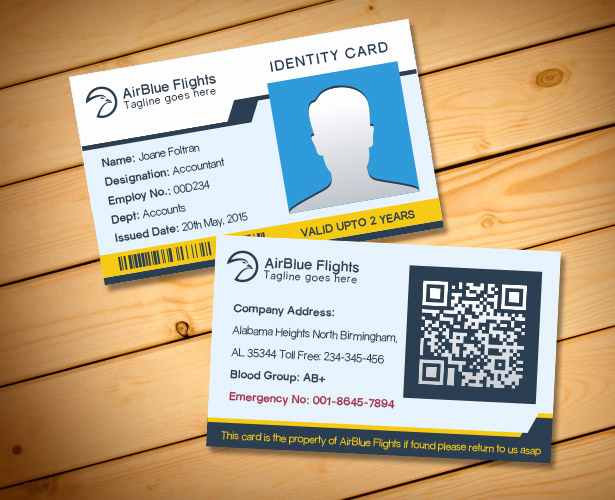 Employee Id Card Templates New 2 Free Pany Employee Identity Card Design Templates