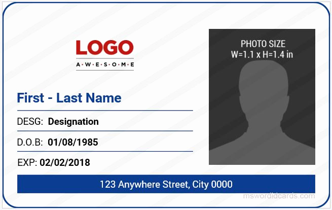 Employee Id Card Templates Unique 5 Best Fice Id Card Templates Ms Word
