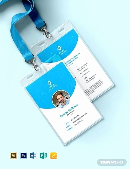 Employee Id Card Templates Unique Id Badge Template Word New Employee Identity Card Awesome