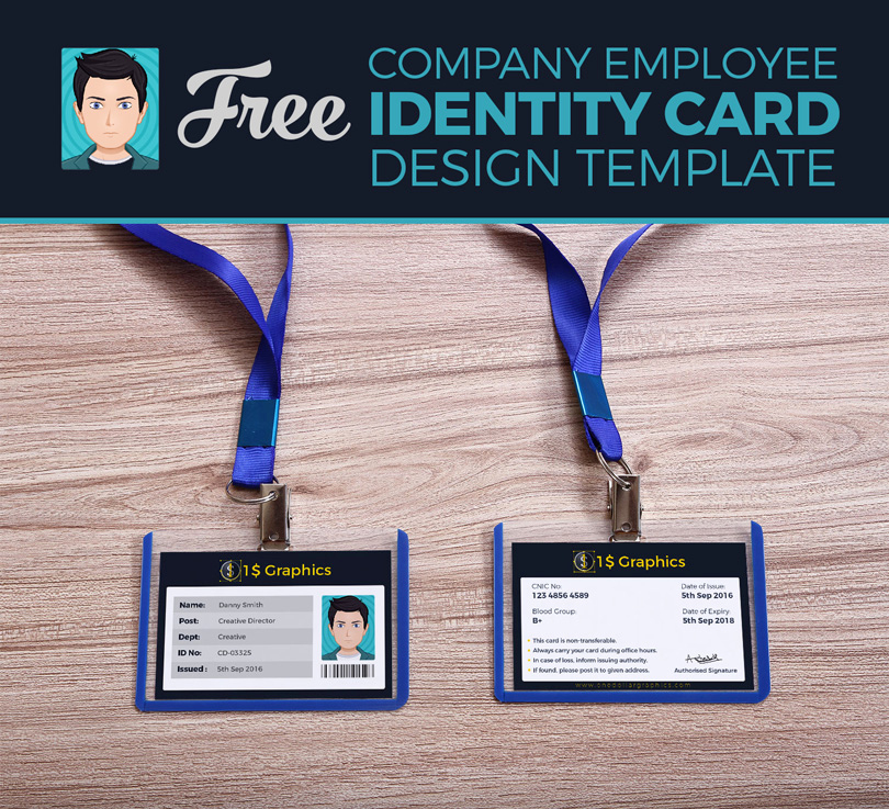 Employee Identity Card Template Awesome Free Pany Employee Identity Card Design Template – E
