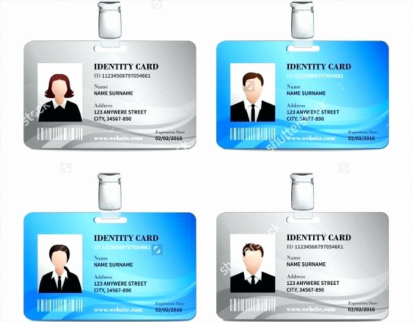 Employee Identity Card Template Awesome Hospital Id Badge Template Card Creative Identity Design