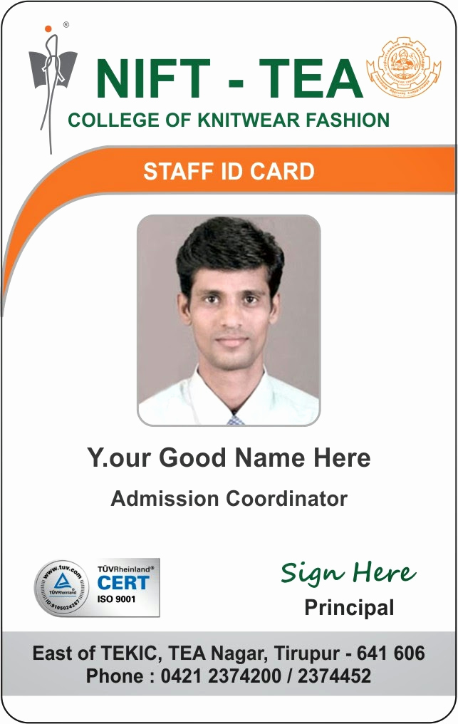 Employee Identity Card Template Awesome Id Card Coimbatore Ph College Student