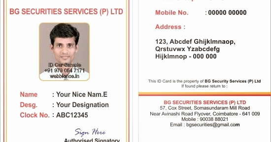 Employee Identity Card Template Awesome Webbience Bordered Employee Id Card Templates
