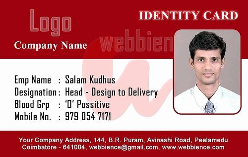 Employee Identity Card Template Beautiful Id Card Template