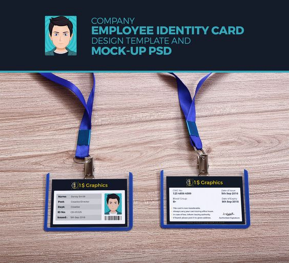 Employee Identity Card Template Beautiful Pany Employee Identity Card Design Template and Mock Up