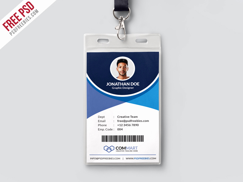 Employee Identity Card Template Elegant Corporate Fice Identity Card Template Psd
