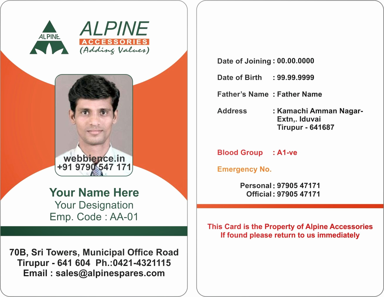 Employee Identity Card Template Elegant Template Galleries Employee Id Card Templates C