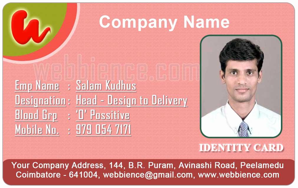 Employee Identity Card Template Fresh Id Card Coimbatore Ph Employee Id Cards