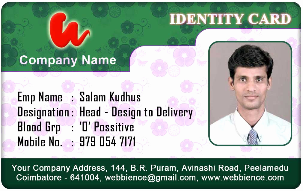 Employee Identity Card Template Fresh Id Card Coimbatore Ph September 2012