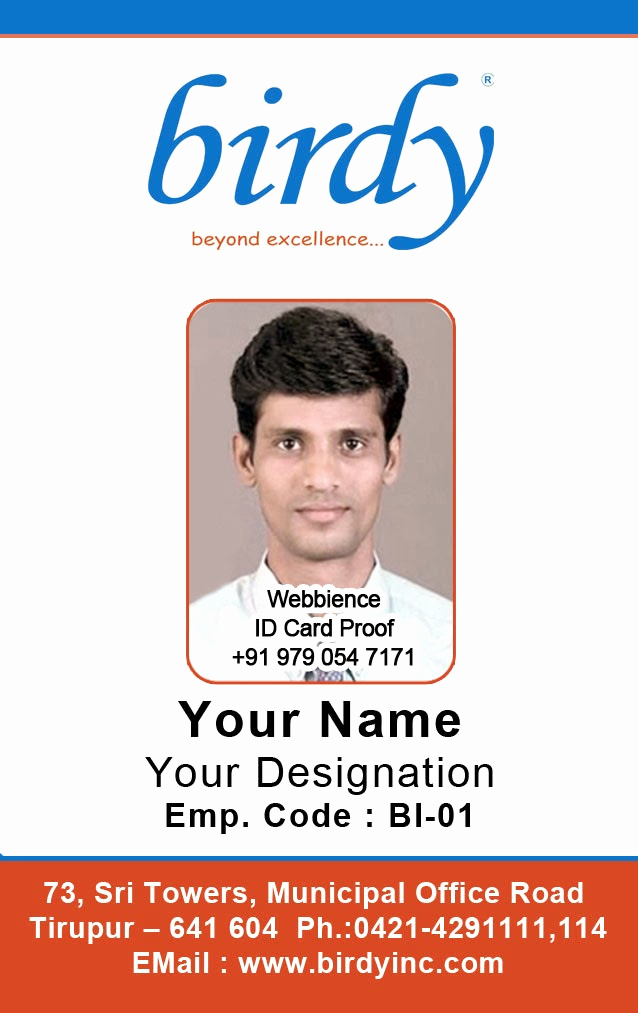 Employee Identity Card Template Fresh Id Card Coimbatore Ph Vertical Employee