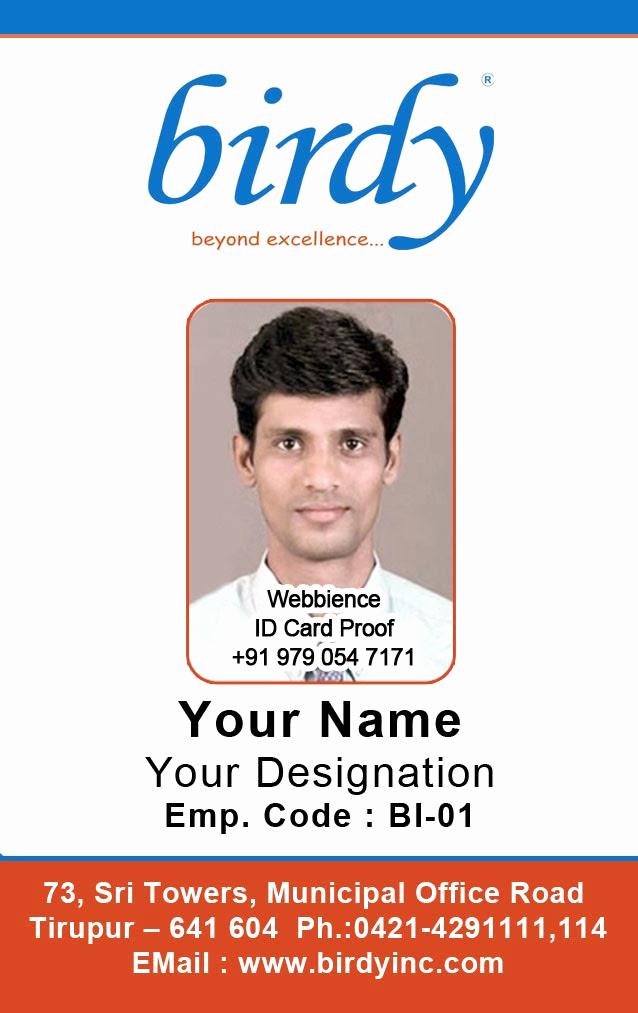 Employee Identity Card Template Fresh Id Card Coimbatore Ph Vertical Employee