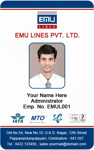Employee Identity Card Template Inspirational Id Card Coimbatore Ph Free Id Card