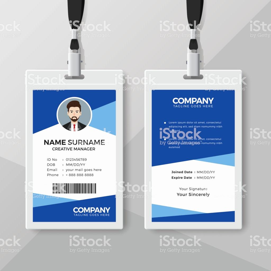 Employee Identity Card Template Inspirational Ilustración De Plantilla De Diseño De Tarjeta De