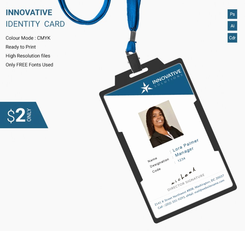 Employee Identity Card Template Inspirational Simple Innovative Identity Card Template