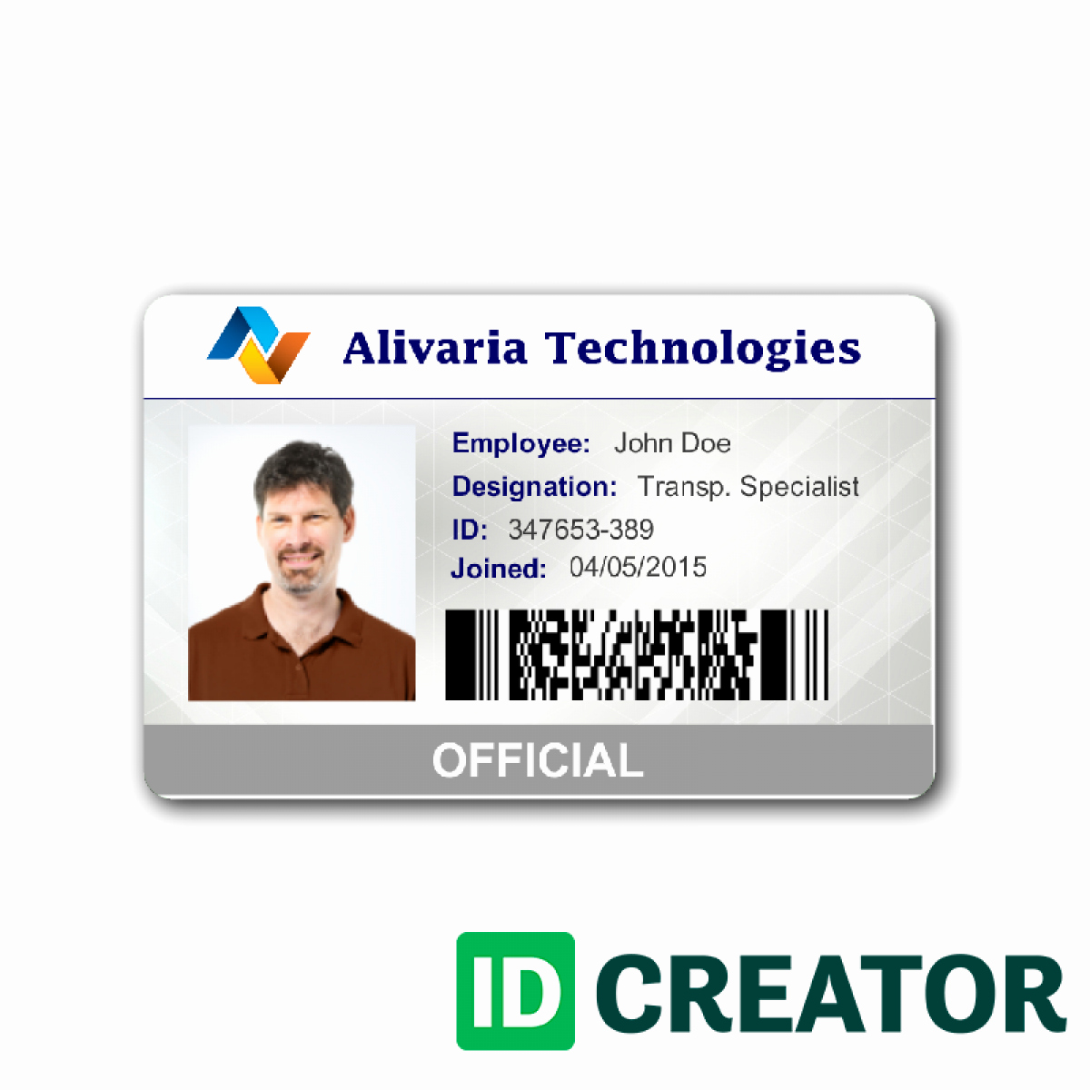 Employee Identity Card Template Lovely Employee Id Card Template Image 1 Templates