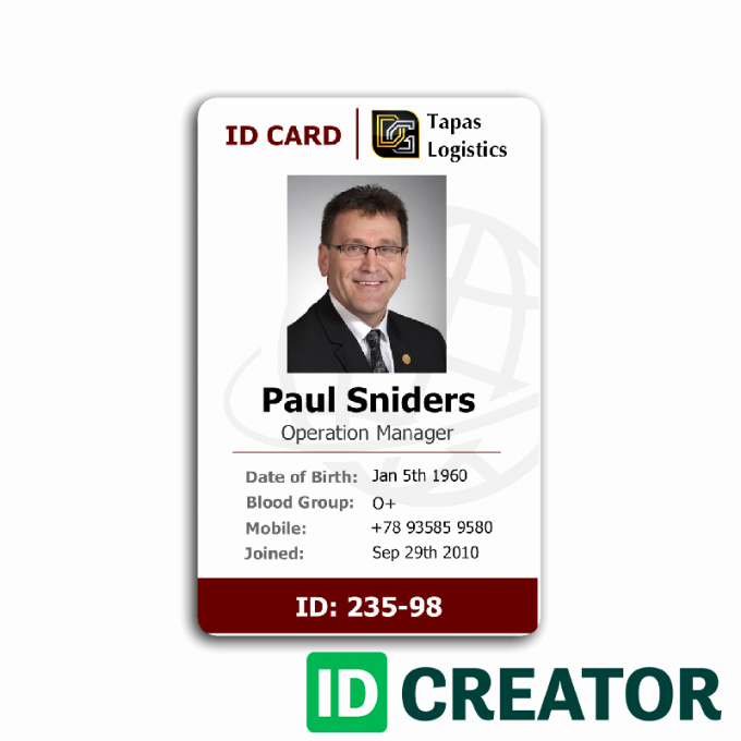 Employee Identity Card Template Luxury Employee Id Card 2 Card Templates