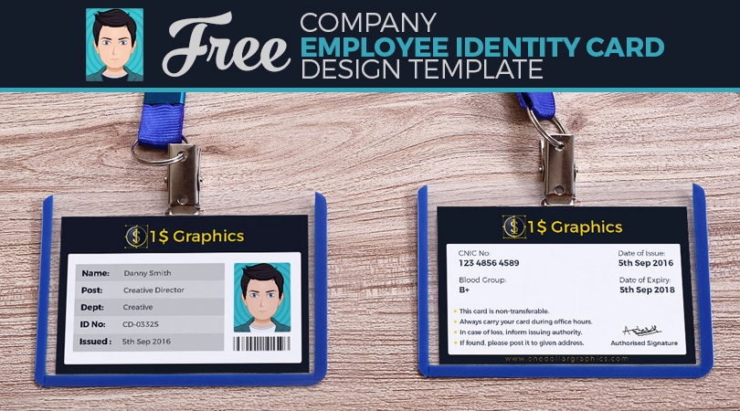 Employee Identity Card Template Luxury Free Pany Employee Identity Card Design Template – E