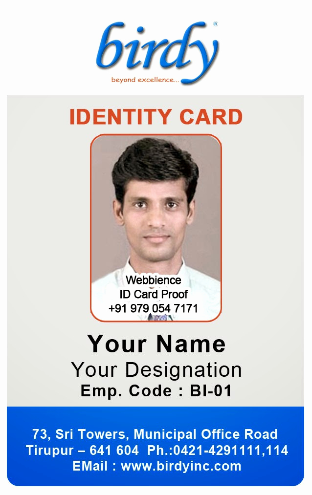 Employee Identity Card Template Luxury Id Card Coimbatore Ph Vertical Employee
