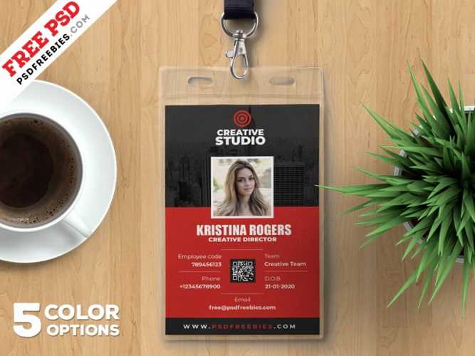 Employee Identity Card Template New Download Free Card & Invites Psd Download Psd