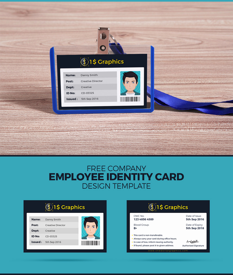 Employee Identity Card Template New Free Pany Employee Identity Card Design Template – E
