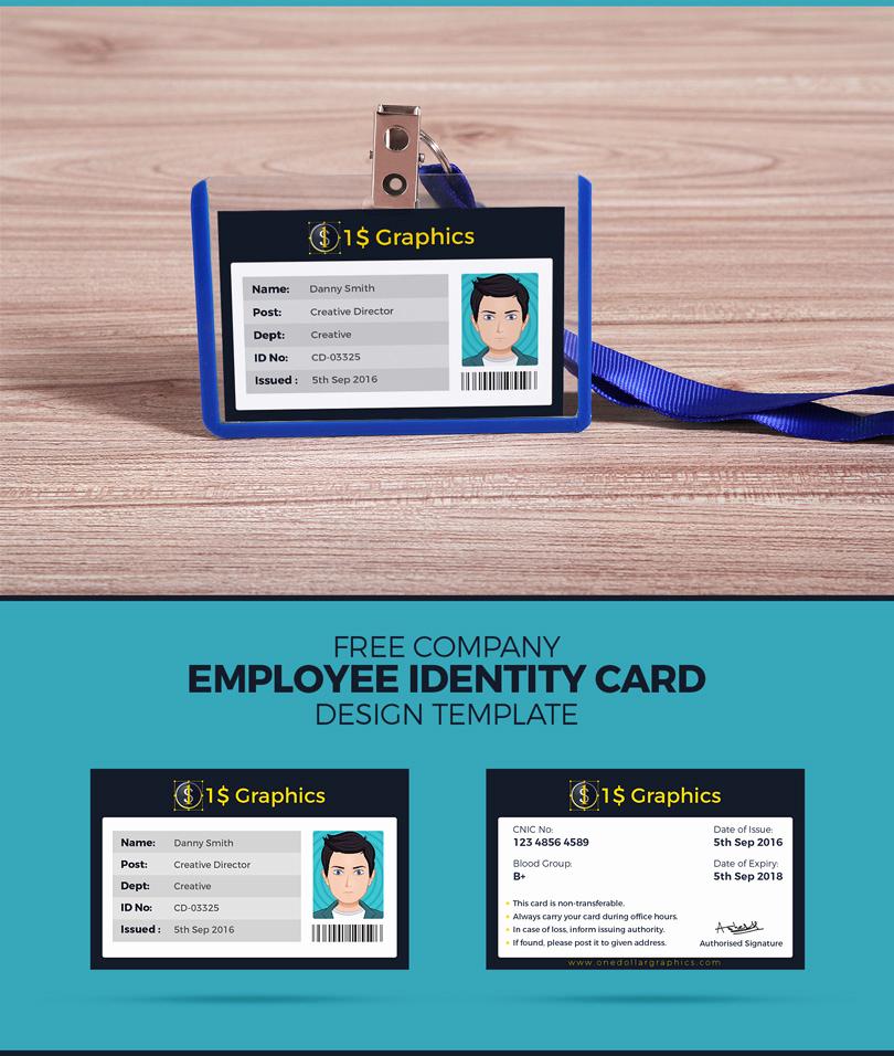 Employee Identity Card Template New Free Pany Employee Identity Card Design Template – E