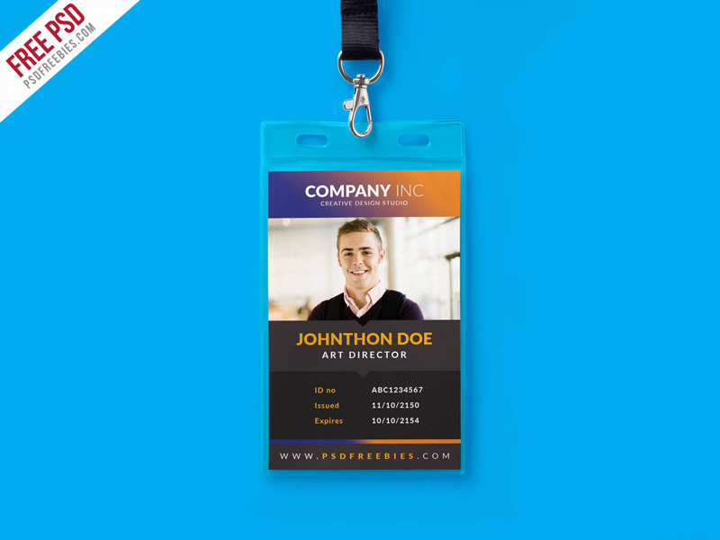 Employee Identity Card Template Unique Free Creative Identity Card Design Template Psd by Psd
