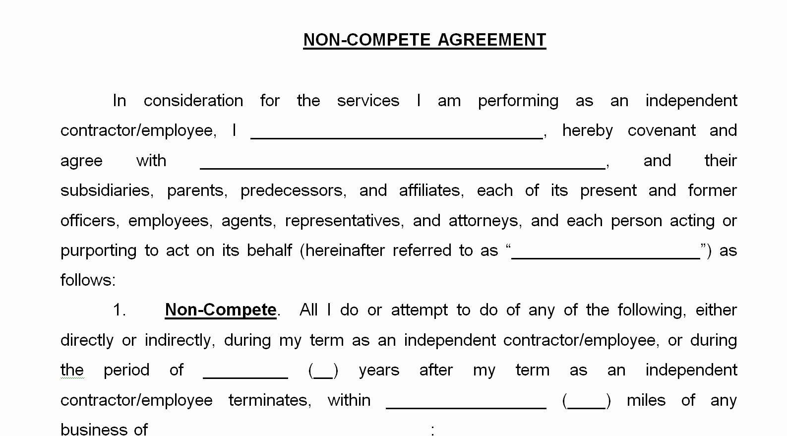 """Employee Non Compete Agreement Template Beautiful Eliminating """"non Pete"""" Agreements"""