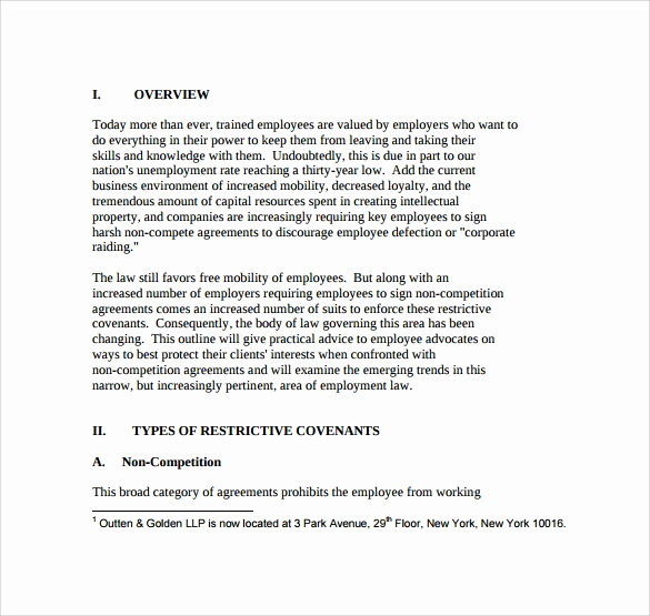 Employee Non Compete Agreement Template Elegant 8 Sample Non Pete Agreements – Pdf Doc