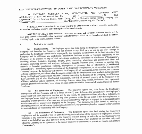 Employee Non Compete Agreement Template Fresh Non Pete Agreement Template – What You Need for A Clear
