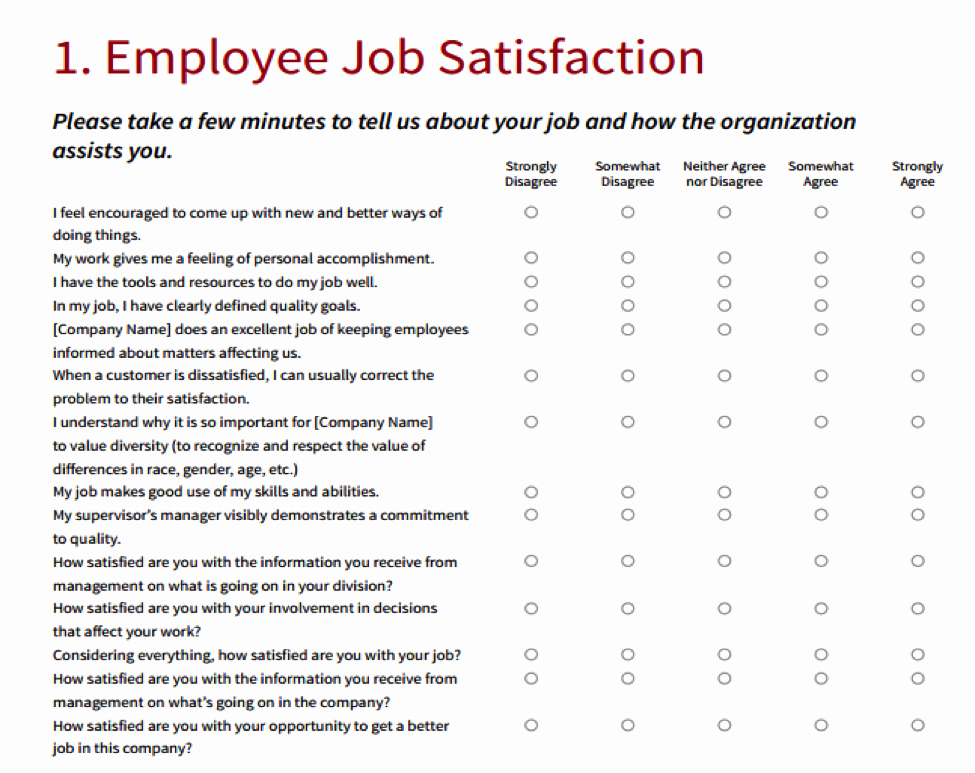 Employee Satisfaction Survey Template Beautiful How Happy are Your Employees Find Out now