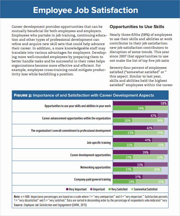 Employee Satisfaction Survey Template Best Of Sample Job Satisfaction Survey 7 Documents In Pdf Word