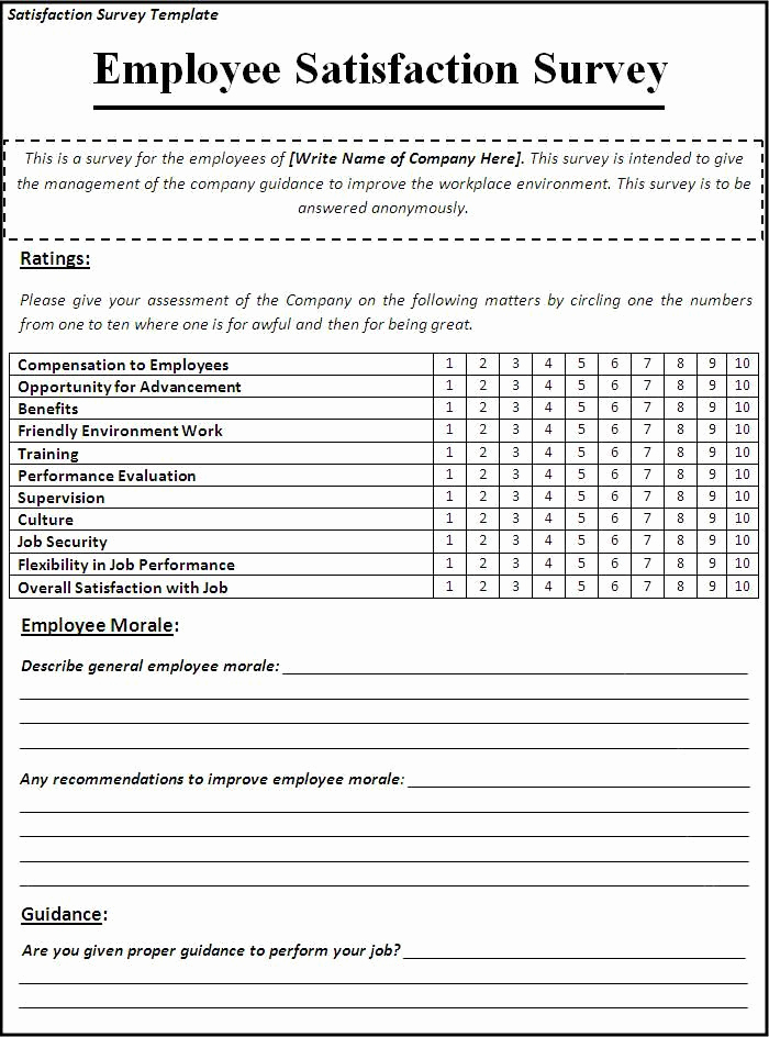 Employee Satisfaction Survey Template Elegant Best 25 Employee Satisfaction Survey Ideas On Pinterest