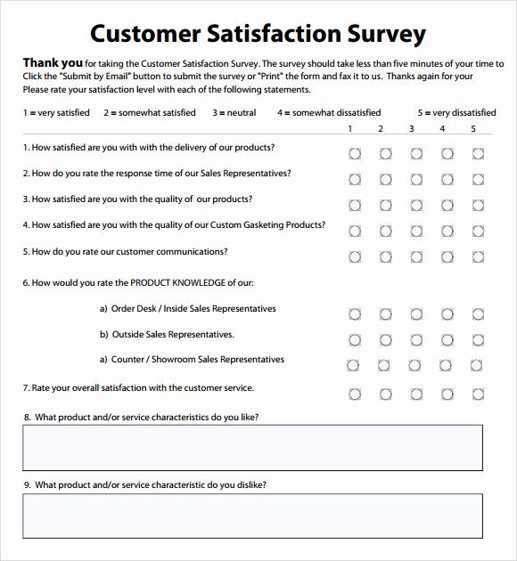 Employee Satisfaction Survey Template Fresh Employee Satisfaction Survey 8 Download Free Documents