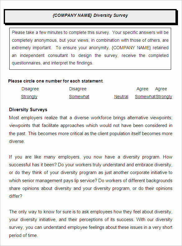 Employee Satisfaction Survey Template Inspirational 9 Employee Satisfaction Survey Templates & Samples Doc