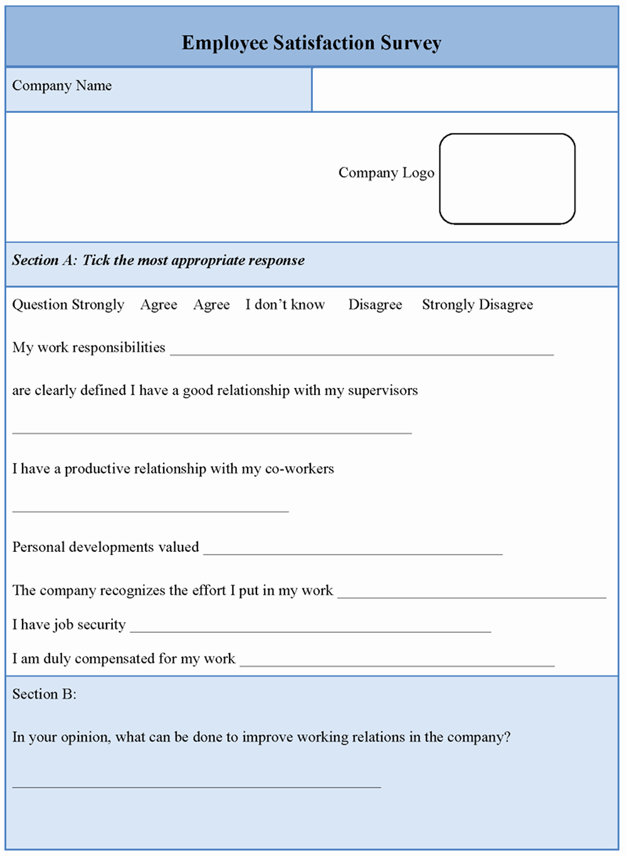Employee Satisfaction Survey Template Inspirational Download Free software Free Download Basic Principle