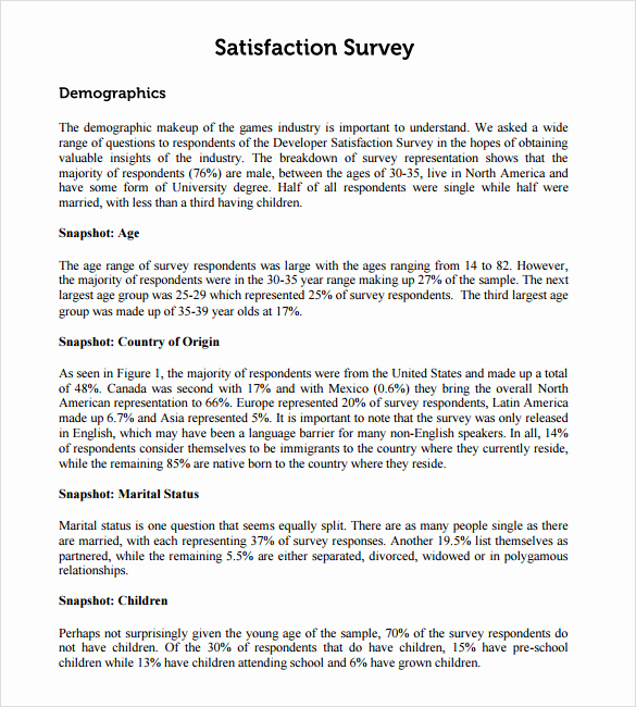 Employee Satisfaction Survey Template Inspirational Employee Satisfaction Survey Templates – 7 Samples