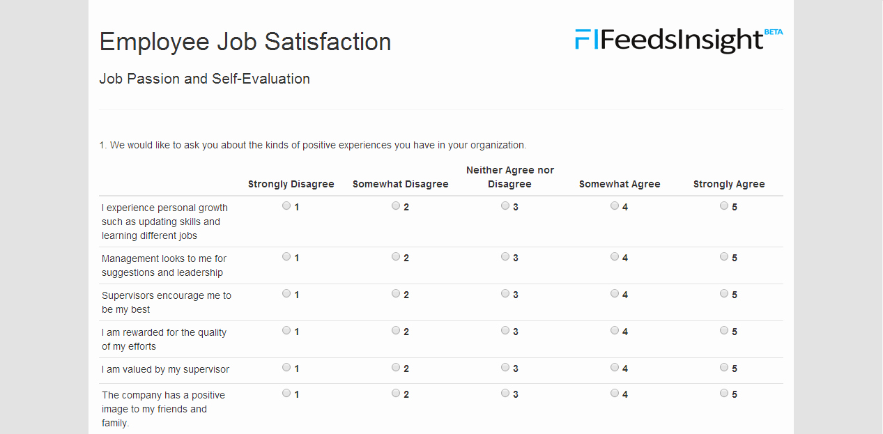 Employee Satisfaction Survey Template Unique Template Employee Satisfaction Survey