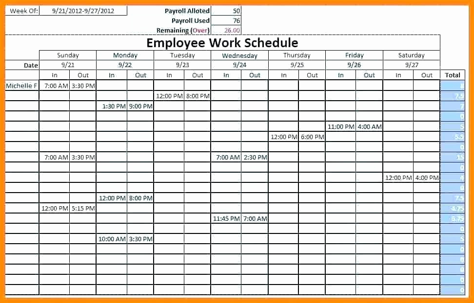 Excel Shift Schedule Template Awesome Excel Employee Work Schedule Template – Whatafanub