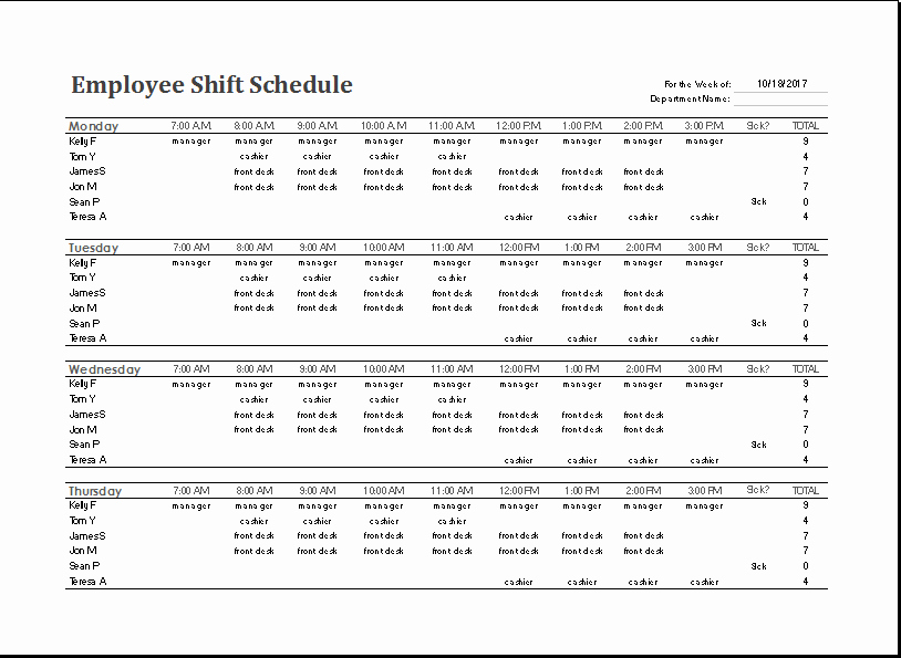 Excel Shift Schedule Template Awesome Ms Excel Employee Shift Schedule Template