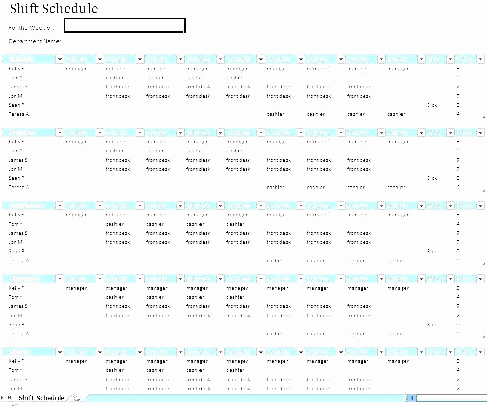 Excel Shift Schedule Template Beautiful Employee Schedule Excel Template Free Employee Scheduling
