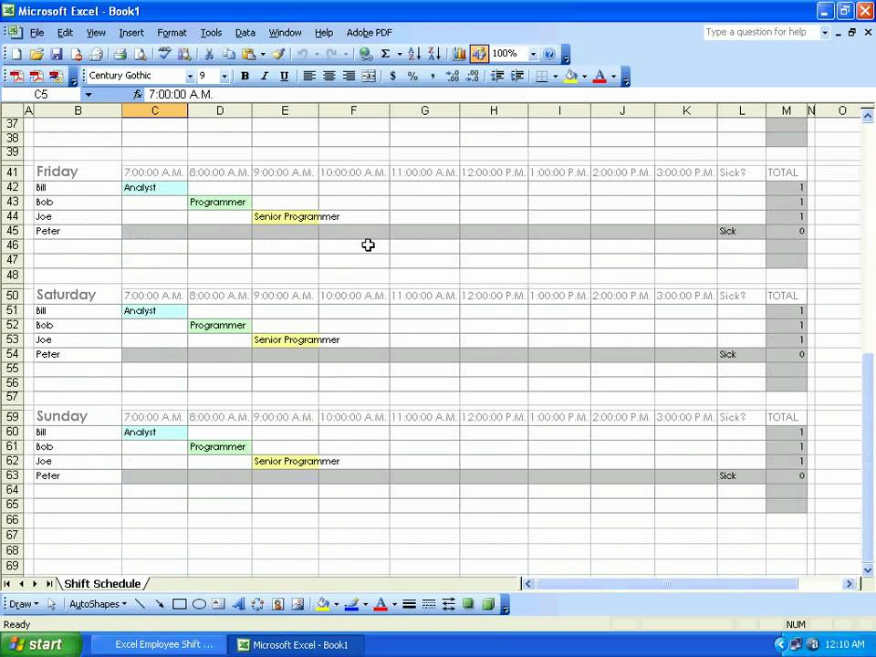 Excel Shift Schedule Template Best Of sobolsoft How to Use Excel Employee Shift Schedule