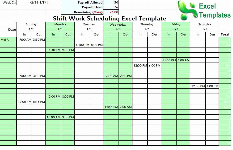 Excel Shift Schedule Template Best Of Tips Templates for Creating A Work Schedule In Excel Shift