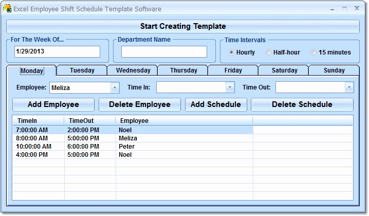 Excel Shift Schedule Template Fresh Excel Employee Shift Schedule Template software Download