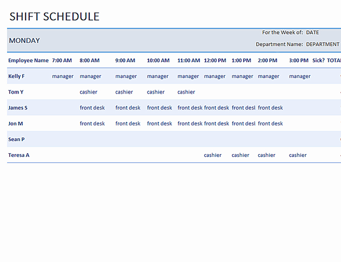 Excel Shift Schedule Template Fresh Weekly Employee Shift Schedule