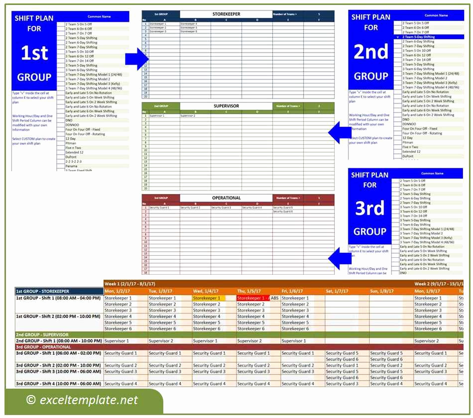 Excel Shift Schedule Template Luxury Employee Shift Schedule Generator