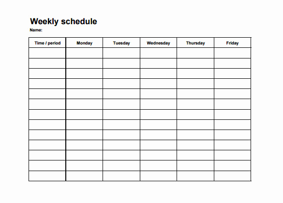Excel Shift Schedule Template New Weekly Employee Shift Schedule Template Excel